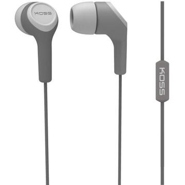 Casti Koss KEB15iGRY ABS V2 Headphones, In-Ear, Wired, Microphone, Grey