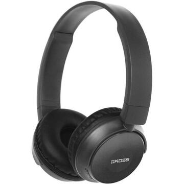 Casti Koss BT330i Headphones, On-Ear, Wireless and Wired, Microphone, Black