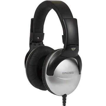 Casti Koss QZPro Headphones, Over-Ear, Wired, Microphone, Silver/Black