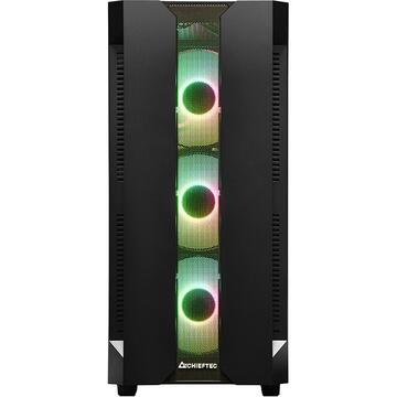 Carcasa Chieftronic Chieftec GS-01B-OP, tower case(black, tempered glass side panel)
