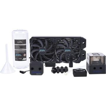 Alphacool Ice Storm Hurricane Copper 45 2x140mm Water Cooling Set