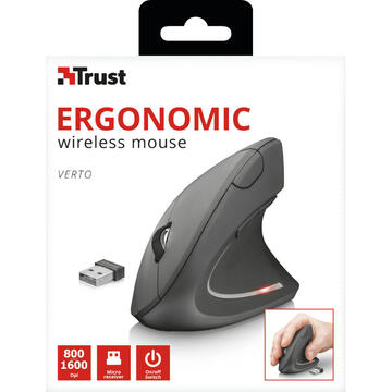 Mouse Trust Verto mouse Right-hand RF Wireless Optical 1600 DPI