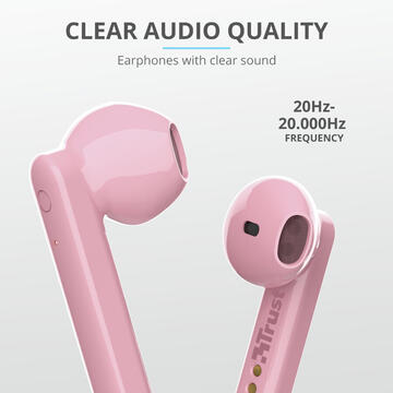 Trust Primo Headset In-ear Bluetooth Pink