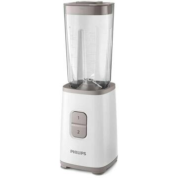 Blender Philips Daily Collection, 350 W, pahar de plastic, accesoriu sticla on-the-go HR2602/00