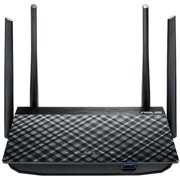 Router wireless Asus RT-AC1300G Plus V2 wireless router Dual-band (2.4 GHz / 5 GHz) Gigabit Ethernet Black