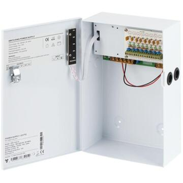 OTHER SURSA CU BACKUP 10A 8CANALE CARCASA MET