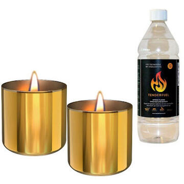 Tenderflame Lilly 8 cm, 0,5 L, Gold (2 pack)
