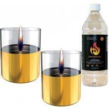 Tenderflame Lilly 10 cm, 0,7 L, Gold (2 pack)