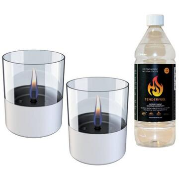Tenderflame Lilly 10 cm, 0,7 L, White (2 pack)