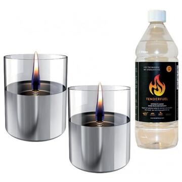 Tenderflame Lilly 10 cm, 0,7 L, Silver (2 pack)
