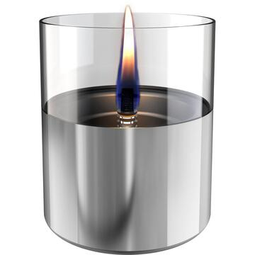 Tenderflame 1W Glass, Lilly 10 cm, Silver