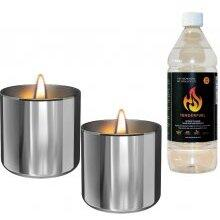 Tenderflame Lilly 8 cm, 0,5 L, Silver (2 pack)