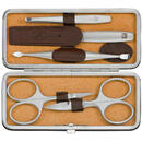 ZWILLING TWINOX Elk leather case, brown, 5 pc.