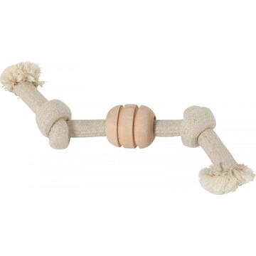 Jucarii animale ZOLUX WILD MIX A rope toy, 2 knots, with a wooden disc