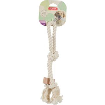 Jucarii animale ZOLUX WILD Rope toy with a handle and a wooden disc