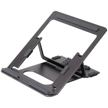 Aluminum portable laptop stand POUT EYES 3 ANGLE grey
