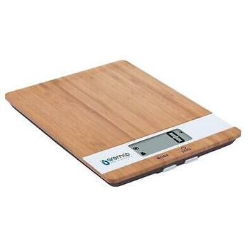 Cantar de bucatarie ORO-MED Digital kitchen scale bamboo wood