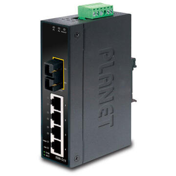 Switch PLANET ISW-511S15 network switch Unmanaged L2 Fast Ethernet (10/100) Black