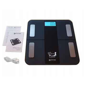 Cantar Oromed ORO-SCALE BLUETOOTH BLACK Electronic personal scale Square